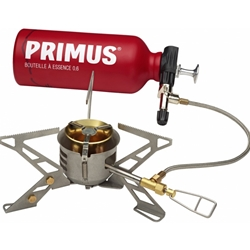 Primus OmniFuel II med bränsleflaska och påse