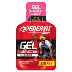 Enervit Sport Gel 25ml Raspberry With Caffeine, kosttillskott