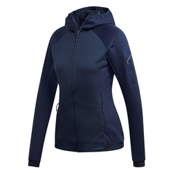 Adidas W Stockhorn Hooded Fleece Jacket - Fleecejacka för damer