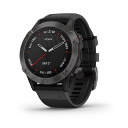 Garmin Fenix 6 Sapphire Gray W/Black Band Gps Watch - Multisportklocka