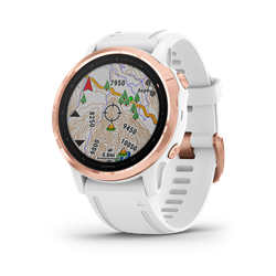 Garmin Fenix 6S Pro Rose Gold W/White Band Gps Watch - Multisportklocka i mindre format